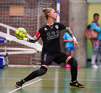 20190915– HALLE , BELGIUM : FP Halle-Gooik Girls A's goal keeper Nena Suet is pictured during the Belgian Women's Futsal D1 match between FP Halle-Gooik A and FP Halle-Gooik B on Sunday 15th 2019 at the De Bres Sport Complex in Halle, Belgium. PHOTO SPORTPIX.BE | Sevil Oktem