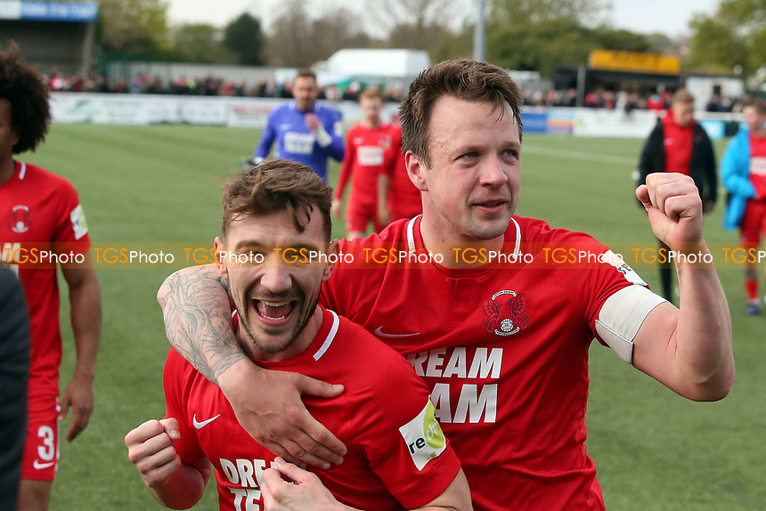 O's Craig Clay & Josh Coulson @ FT during Sutton United vs Leyton Orient, Vanarama National League Football at the Borough Sports Ground on 13th April 2019