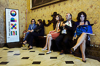 Milano 24-09-2013: gente partecipa ad un incontro in vista di Expo 2015                                  Milan 24-09-2013: people attend at meeting for Expo 2015