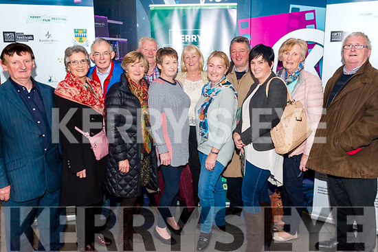 Opening night of Kerry Film Festival in the Killarney Cinema last Thursday night. Pictured are l-r Joe O'Shea from Templenoe, Rose Sullivan from Kenmare, Brendan O'Sullivan from Bonane, Nuala Connor from Bonane, Eoin O'Se from Tuosist, Dympna O'Sullivan from Tuosist, Caitlin Ui She from Clochan Ceanntra, John Coles from Lackaroe, John Ui She from Clochan Ceanntra, Irene Carey from Bonane, Mary and Derry Reen from Listowel.