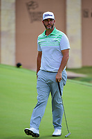 Scott Piercy (USA) after sinking his putt on 18 during round 1 of the Valero Texas Open, AT&amp;T Oaks Course, TPC San Antonio, San Antonio, Texas, USA. 4/20/2017.<br /> Picture: Golffile | Ken Murray<br /> <br /> <br /> All photo usage must carry mandatory copyright credit (&copy; Golffile | Ken Murray)