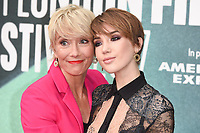 "Emma Thompson and daughter, Gaia<br /> arriving for the London Film Festival 2017 screening of ""The Meyerowitz Stories"" at the Embankment Gardens Cinema, London<br /> <br /> <br /> ©Ash Knotek  D3319  06/10/2017"