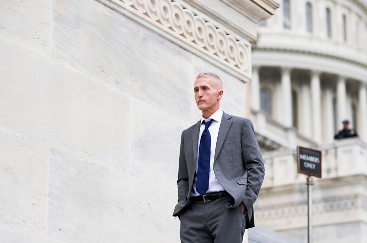 UNITED STATES - MAY 4: Rep. Trey Gowdy, R-S.C., walks down the House steps at the Capitol after a series of votes on repeal and replace of Obamacare on Thursday, May 4, 2017. (Photo By Bill Clark/CQ Roll Call)