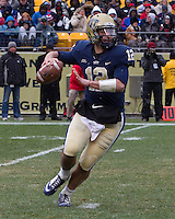 Pitt quarterback Tino Sunseri. The Pitt Panthers defeat the Rutgers Scarlet Knights 27-6 on Saturday, November 24, 2012 at Heinz Field , Pittsburgh, PA.