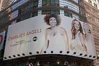 A Clear Channel advertisement board for ABC's Charlie's Angels is seen in New York, NY, Tuesday August 2, 2011.