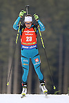 09/12/2016, Pokljuka - IBU Biathlon World Cup.<br /> Justine Braisaz competes at the sprint race in Pokljuka, Slovenia on 09/12/2016.