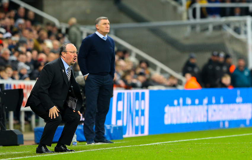 Newcastle United manager Rafa Benítez reacts from the technical area<br /> <br /> Photographer Alex Dodd/CameraSport<br /> <br /> Emirates FA Cup Third Round - Newcastle United v Blackburn Rovers - Saturday 5th January 2019 - St James' Park - Newcastle<br />  <br /> World Copyright © 2019 CameraSport. All rights reserved. 43 Linden Ave. Countesthorpe. Leicester. England. LE8 5PG - Tel: +44 (0) 116 277 4147 - admin@camerasport.com - www.camerasport.com