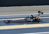Apr. 14, 2012; Concord, NC, USA: NHRA top fuel dragster driver Doug Herbert during qualifying for the Four Wide Nationals at zMax Dragway. Mandatory Credit: Mark J. Rebilas-