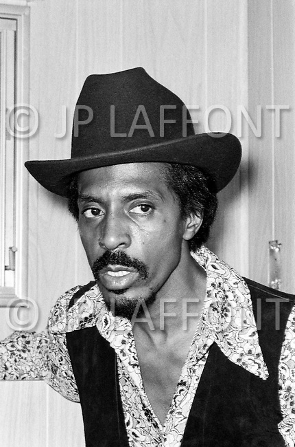 August 1970, Manhattan, New York City, New York State, USA --- Musician Ike Turner in an interview before a concert with Tina Turner in Central Park in Manhattan in August 1970. --- Image by © JP Laffont