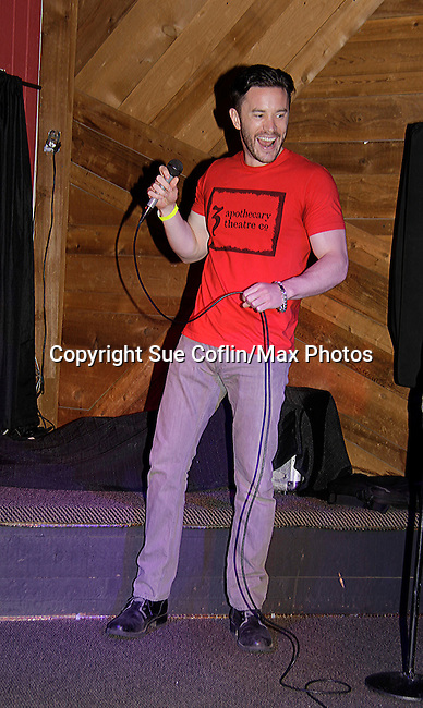 Tom Pelphrey - Guiding Light sang Folsum Prison - Karaoke at 15th Southwest Florida Soapfest 2014 Charity Weekend with a Bartending/Karaoke get together on May 26, 2104 at Porky's, Marco Island, Florida. (Photo by Sue Coflin/Max Photos)