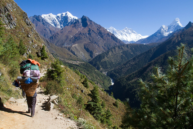 Along the trail with Everest, Lhotse, and Photo by Didrik Johnck.