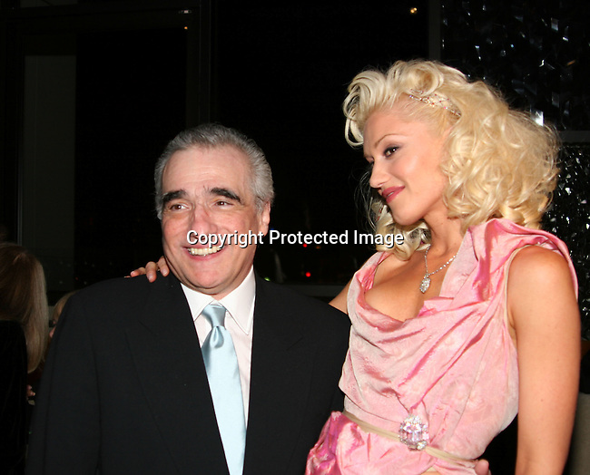 Martin Scorsese &amp; Gwen Stefani<br />**EXCLUSIVE**<br />Miramax Films Presents -&ldquo;The Aviator&rdquo; Post Premiere Party <br />Annex Restaurant<br />Hollywood, CA, USA<br />Wednesday, December 1, 2004<br />Photo By Selma Fonseca /Celebrityvibe.com/Photovibe.com, <br />New York, USA, Phone 212 410 <br />5354, email:sales@celebrityvibe.com