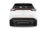 Straight rear view of a 2015 Ford Edge SEL 5 Door Suv Rear View  stock images