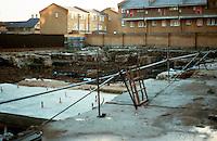 London:  Globe Theatre excavation site, Southwark.  Jan. '90.