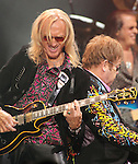 Guitarist Davey Johnstone and Sir Elton John perform at the 1st Mariner Arena in Baltimore, Md. March 26, 2011..Copyright EML/Rockinexposures.com.