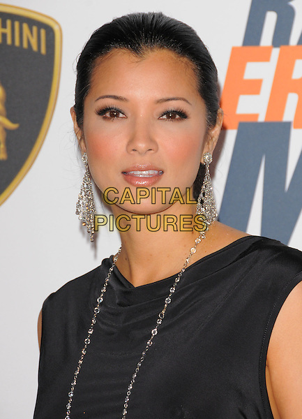 KELLY HU .at the 17th Annual Race to Erase MS held at The Hyatt Regency Century Plaza in Beverly Hills, California, USA, May 7th 2010..portrait headshot hair up danlgy black sleeveless silver necklace .CAP/RKE/DVS.©DVS/RockinExposures/Capital Pictures.