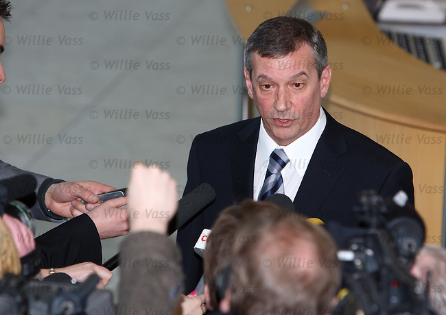 Campbell Ogilvie briefs the press about the Boozegate enquiry