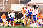 23/09/2000 Football League Division 3 Blackpool v Chesterfield<br /> <br /> 38154 Murphy header<br /> <br /> © Phill Heywood