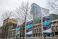 ABN AMRO World Tennis Tournament, Rotterdam, The Netherlands, 19 Februari, 2017, Flagg's in city center<br /> Photo: Henk Koster