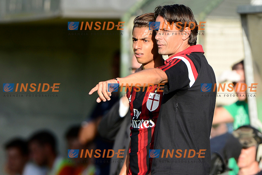 Hachim Mastour, Filippo Inzaghi Milan<br /> Solbiate Arno 16-07-2014 Stadio Felice Chinetti - Football 2014/2015 amichevole. Milan - Renate Foto Giuseppe Celeste / Insidefoto
