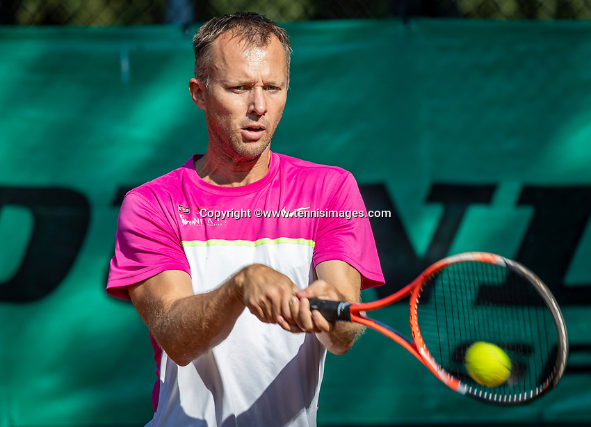 Hilversum, The Netherlands, September 2, 2018,  Tulip Tennis Center, NKS, National Championships Seniors, Men's  40+ final: Dennis Bank (NED)<br />