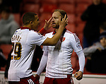 Matt Done of Sheffield Utd celebrates scoring the winning goal - FA Cup Second round - Sheffield Utd vs Oldham Athletic - Bramall Lane Stadium - Sheffield - England - 5th December 2015 - Picture Simon Bellis/Sportimage