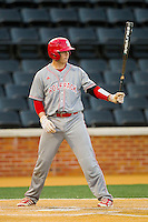 Brett Austin (11) of the North Carolina State Wolfpack at bat against the Wake Forest Demon Deacons at Wake Forest Baseball Park on March 15, 2013 in Winston-Salem, North Carolina.  The Wolfpack defeated the Demon Deacons 12-6.  (Brian Westerholt/Four Seam Images)