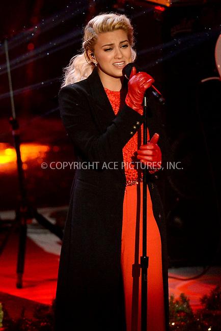 www.acepixs.com<br /> November 30, 2016  New York City<br /> <br /> Tori Kelly performing at The Rockefeller Center Christmas Tree lighting ceremony on November 30, 2016 in New York City.<br /> <br /> <br /> Credit: Kristin Callahan/ACE Pictures<br /> <br /> <br /> Tel: 646 769 0430<br /> Email: info@acepixs.com