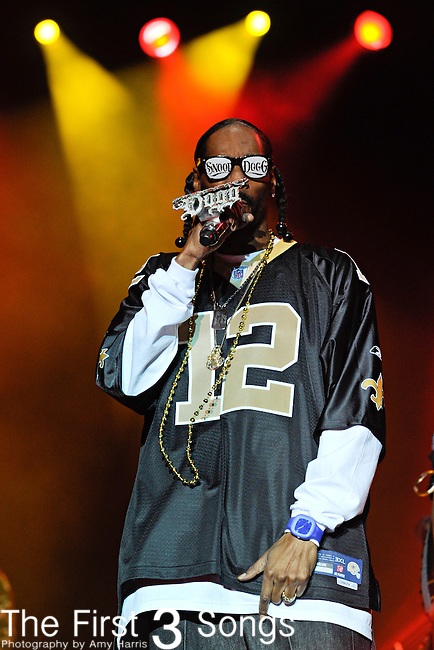 Snoop Dogg performs during Day 2 of the Voodoo Experience at City Park in New Orleans, Louisiana on October 29, 2011.