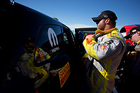 Feb 25, 2017; Chandler, AZ, USA; NHRA funny car driver Matt Hagan during qualifying for the Arizona Nationals at Wild Horse Pass Motorsports Park. Mandatory Credit: Jason Zindroski