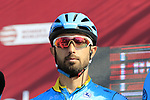 Dario Cataldo (ITA) Astana Pro Team at sign on in Fortezza Medicea before the start of Strade Bianche 2019 running 184km from Siena to Siena, held over the white gravel roads of Tuscany, Italy. 9th March 2019.<br /> Picture: Eoin Clarke | Cyclefile<br /> <br /> <br /> All photos usage must carry mandatory copyright credit (&copy; Cyclefile | Eoin Clarke)