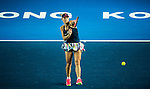 Angelique Kerber of Germany vs Louisa Chirico of USA during their Singles Round 2 match at the WTA Prudential Hong Kong Tennis Open 2016 at the Victoria Park Tennis Stadium on 12 October 2016 in Hong Kong, China. Photo by Marcio Rodrigo Machado / Power Sport Images