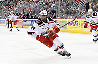 HERSHEY, PA - JANUARY 05: Grand Rapids Griffins left wing Givani Smith (54) crosses over in the offensive zone during the Grand Rapids Griffins vs. Hershey Bears AHL game at the Giant Center in Hershey, PA. (Photo by Randy Litzinger/Icon Sportswire)