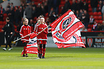 Flag bearers in the centre circle during the championship match at the Bramall Lane Stadium, Sheffield. Picture date 14th April 2018. Picture credit should read: Simon Bellis/Sportimage