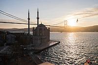 Turkey, Istanbul, Bosphorus, Ortaköy Mosque