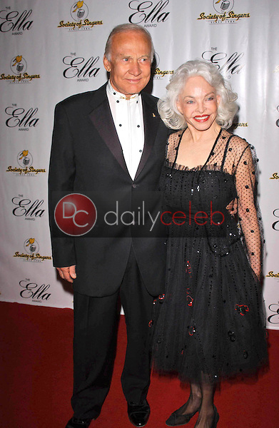 Buzz Aldrin and wife Lois<br /> at the Society of Singers 14th Annual Ella Awards honoring Sir Elton John, Beverly Hilton Hotel, Beverly Hills, CA 10-10-05<br /> David Edwards/DailyCeleb.Com 818-249-4998