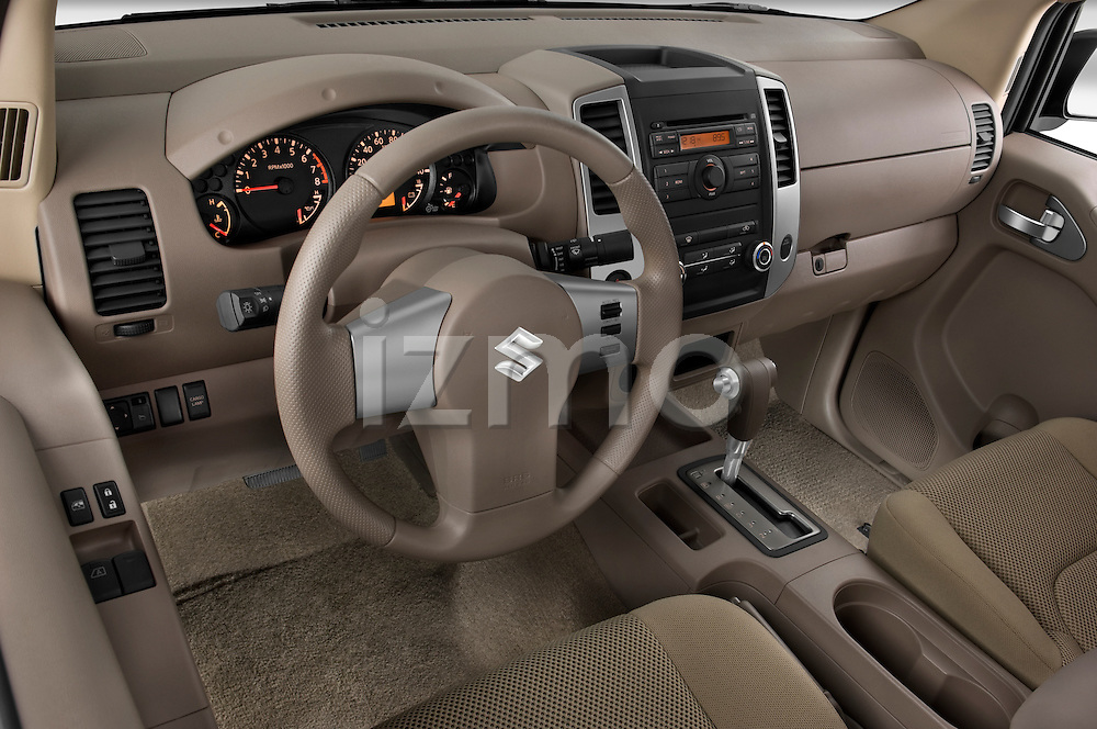 High angle dashboard view of a 2009 Suzuki Equator Extended Cab