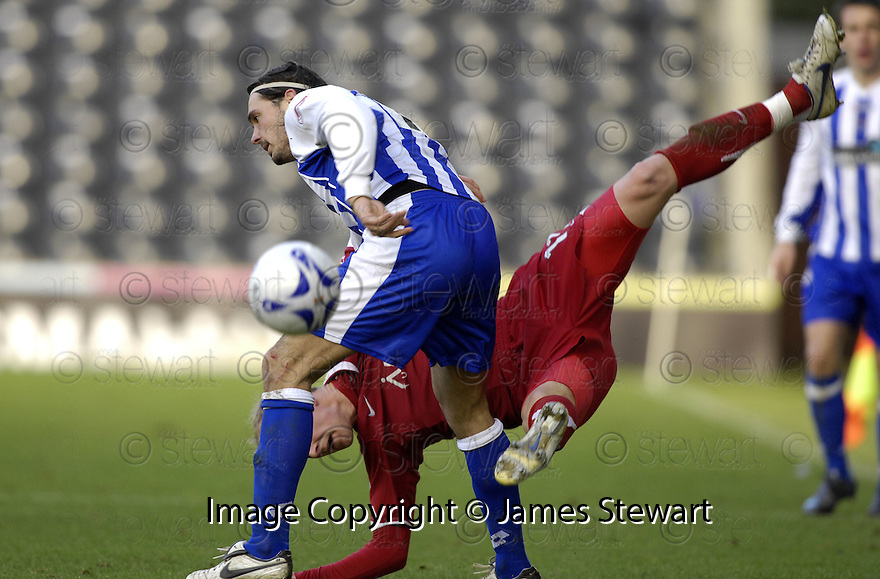 24/02/2008    Copyright Pic: James Stewart.File Name : sct_jspa12_kilmarnock_v_aberdeen.DANNY INVINCIBILE THROWS STUART DUFF TO THE GROUND.James Stewart Photo Agency 19 Carronlea Drive, Falkirk. FK2 8DN      Vat Reg No. 607 6932 25.Studio      : +44 (0)1324 611191 .Mobile      : +44 (0)7721 416997.E-mail  :  jim@jspa.co.uk.If you require further information then contact Jim Stewart on any of the numbers above........
