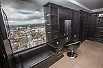 © Joel Goodman - 07973 332324 . 24 June 2013 . Orchid Suite , Beetham Tower , Manchester , UK . Man's dressing room . Former triplex apartment home of Phil and Julie Neville , which is up for rent and thought to be the most expensive in Manchester . Photo credit : Joel Goodman