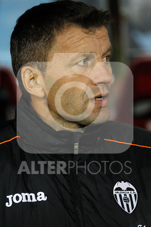 Valencia's coach Miroslav Djukic during La Liga match.December 15,2013. (ALTERPHOTOS/Acero)