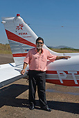 Pará State, Brazil. Ourilândia do Norte. Commandante Pereira, owner of the PEMA air taxi company.