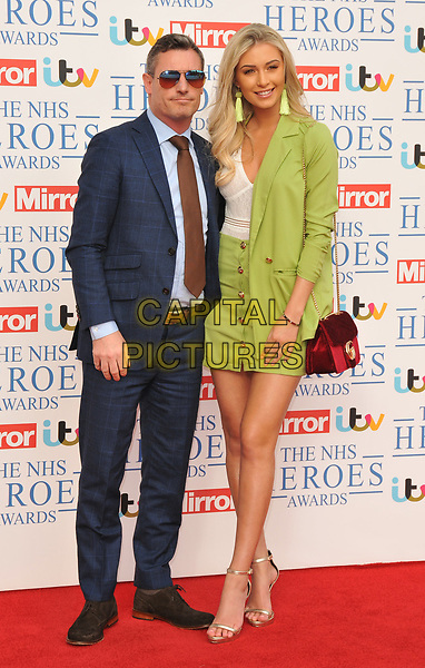 Dean Gaffney and Rebekah Ward at the NHS Heroes Awards 2018, London Hilton on Park Lane Hotel, Park Lane, London, England, UK, on Monday 14 May 2018.<br /> CAP/CAN<br /> &copy;CAN/Capital Pictures