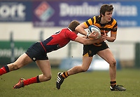 4 March 2013; RBAI winger Iain Jones on the attack during the schools cup semi-final clash between RBAI and Ballyclare High School at Ravenhill Belfast. Photo Credit : John Dickson / DICKSONDIGITAL