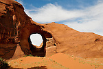An arch in Monument Valley.