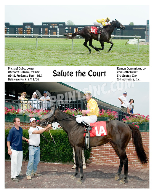 Salute the Count winning at Delaware Park on 7/11/06