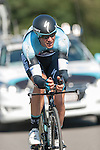 SITTARD, NETHERLANDS - AUGUST 16: Alessandro Petacchi of Italy riding for Omega Pharma-Quick Step competes during stage 5 of the Eneco Tour 2013, a 13km individual time trial from Sittard to Geleen, on August 16, 2013 in Sittard, Netherlands. (Photo by Dirk Markgraf/www.265-images.com)