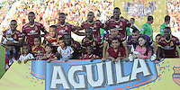 IBAGUE -COLOMBIA, 24-07-2016.Formación del Tolima contra el Once Caldas. Acción de juego entre el Tolima y el Once Caldas durante encuentro  por la fecha 5 de la Liga Aguila II 2016 disputado en el estadio Murillo Toro./ Team Of Tolima against Once Caldas. Actions game between Tolima and Once Caldas  during match for the date 5 of the Aguila League II 2016 played at Murilo Toro stadium . Photo:VizzorImage / Juan Carlos Escobar  / Contribuidor