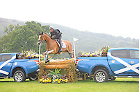 Blair Atholl, Scotland, UK. 12th September, 2015. Longines  FEI European Eventing Championships 2015, Blair Castle. Thibaut Nastenko (RUS) riding Reistag during the Cross country phase © Julie Priestley