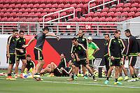 Action photo during Training Selection of Mexico before its match against Chile Corresponds to the quarterfinals of the America Cup Centenary 2016 at Levis Stadium,<br /> <br /> Foto de accion durante el Entrenamiento de la Seleccion de Mexico previo a su partido contra Chile Correspondiente a los Cuartos de Final de la Copa America Centenario 2016, en el Estadio Levis, en la foto: Hirving Lozano<br /> <br /> <br /> 17/06/2016/MEXSPORT/Omar Martinez.
