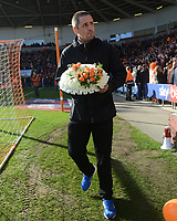 Blackpool fans lay wreaths before kickoff<br /> <br /> Photographer Kevin Barnes/CameraSport<br /> <br /> The EFL Sky Bet League One - Blackpool v Southend United - Saturday 9th March 2019 - Bloomfield Road - Blackpool<br /> <br /> World Copyright © 2019 CameraSport. All rights reserved. 43 Linden Ave. Countesthorpe. Leicester. England. LE8 5PG - Tel: +44 (0) 116 277 4147 - admin@camerasport.com - www.camerasport.com